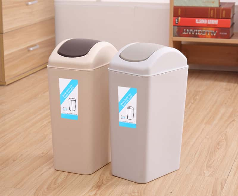 8LRocking cover type trash can